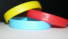 God Chose Me Wristbands